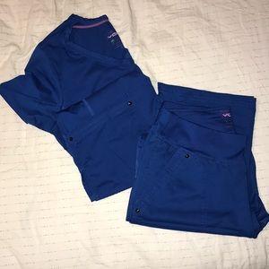 Royal Blue Soft Scrub Set
